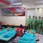 Anggota Persit KCK Cabang L Kodim Surakarta, Rela Sumbangkan Darahnya